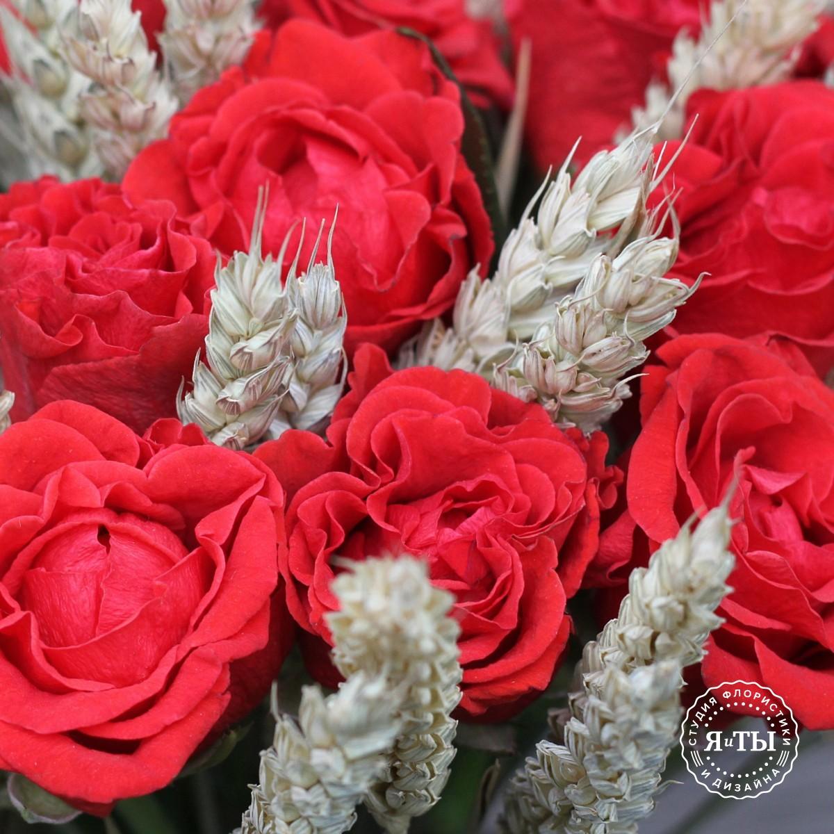 Розы с пшеницей