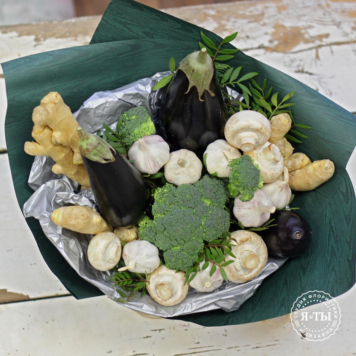 Овощной букет с баклажанами и имбирем