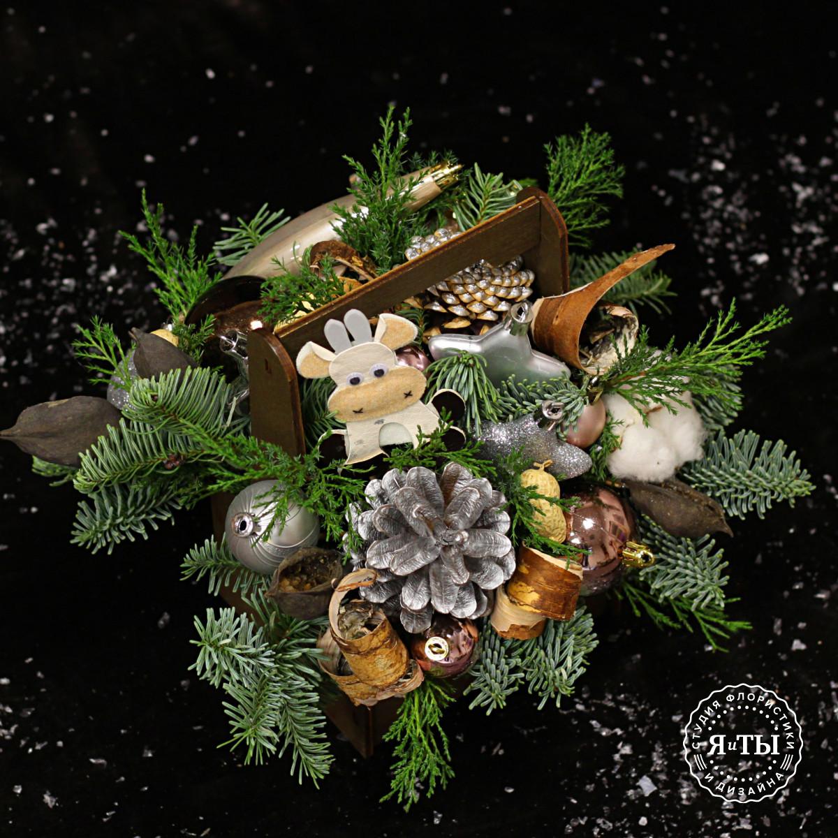 Деревянный ящичек с символом года